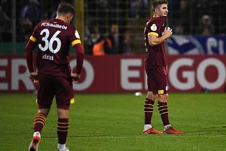 Der FC Schalke 04 unterlag beim TSV 1860 München. Foto: Angelika Warmuth/dpa
