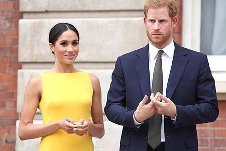 Sie gehören zu den einflussreichsten Menschen der Welt:Prinz Harry und Herzogin Meghan. Foto: Yui Mok/PA Wire/dpa
