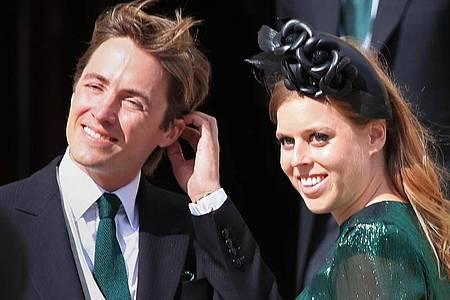 Prinzessin Beatrice, Prinzessin vonYork, und ihr Ehemann Edoardo Mapelli Mozzi. Foto: Peter Byrne/PA Wire/dpa