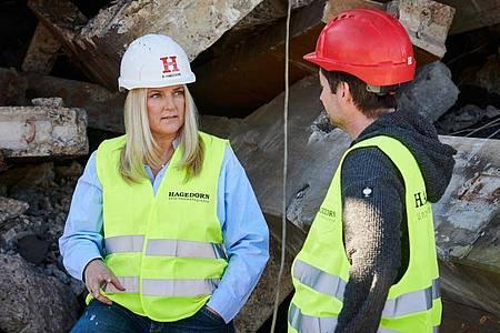 Geschäftsführerin Barbara Hagedorn macht sich für mehr weibliche Auszubildende auf der Baustelle stark. Foto: Hagedorn/dpa-tmn