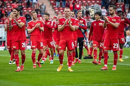 Für den 1. FC Union Berlin beginnt mit dem Spiel gegen Slavia Prag das Abenteuer Conference League. Foto: Andreas Gora/dpa