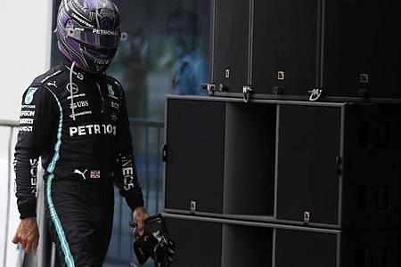 War nach dem Istanbul-Rennen sichtlich bedient:Mercedes-Pilot Lewis Hamilton. Foto: Umit Bektas/Pool`Reuters/AP/dpa