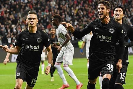 Eintracht Frankfurt feierte gegen Olympiakos Piräus einen souveränen Heimsieg. Foto: Arne Dedert/dpa