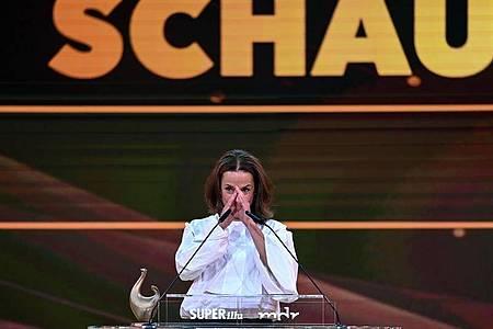 Claudia Michelsen hat den Schauspiel-Preis gewonnen. Foto: Hendrik Schmidt/dpa