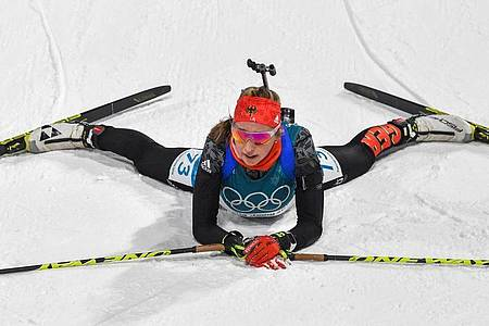 Weiß noch nicht, ob sie sich auf Olympia freut: Franziska Preuß. Foto: Angelika Warmuth/dpa