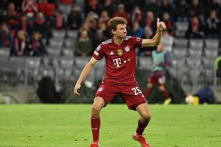 Könnte als erster deutscher Fußball-Profi 50 Tore in der Champions League erzielen: Thomas Müller. Foto: Sven Hoppe/dpa