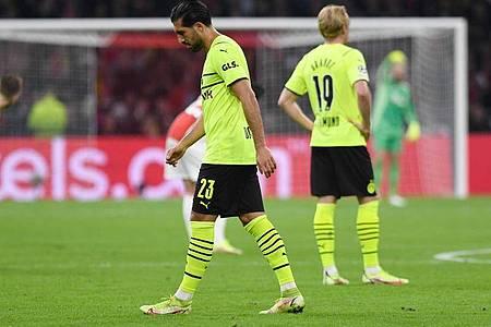 Borussia Dortmund musste eine heftige Auswärtspleite bei Ajax Amsterdam hinnehmen. Foto: Bernd Thissen/dpa