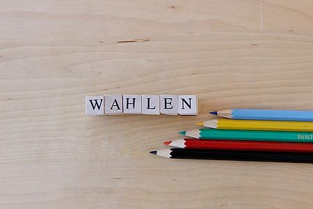 """Buntstifte mit Schriftzug """"Wahlen"""""""