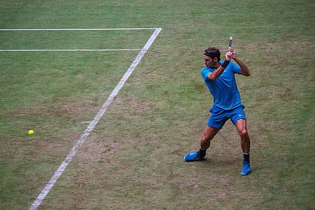 Roger Federer beim Spiel